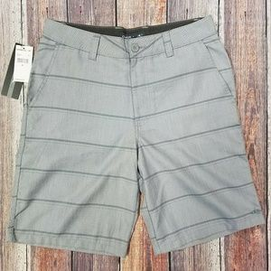 O'Neill Flynn Gray Stripe Casual Shorts Size 30